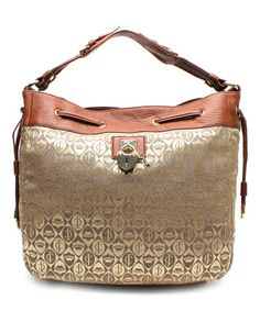 Another great find on #zulily! Cognac Crescent Daydreamer Shoulder Bag by Juicy Couture #zulilyfinds