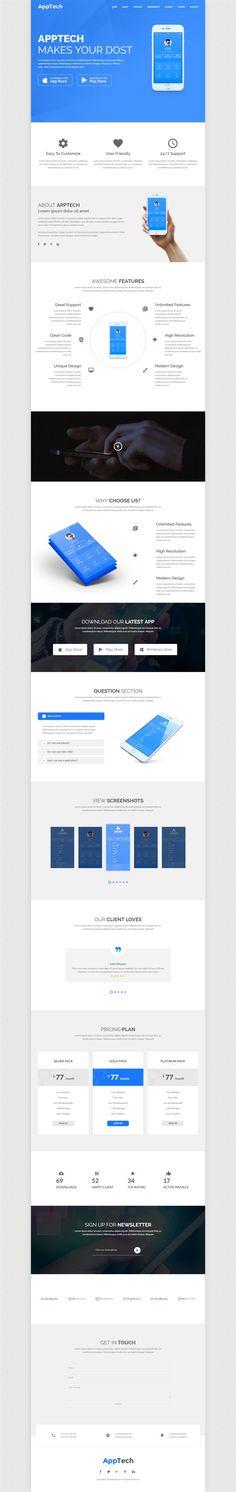 Apptech - Multipurpose Landing Page Template, Technology