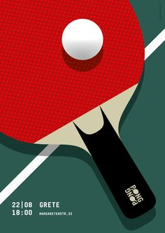 Ping Pong / Table Tennis Poster // Graphic Design, Illustration © 2016 Christian Chladny