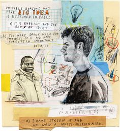 A collection of artwork created in 2010 by San Francisco based artist David Fullarton. Illustration Arte, Art Diary, Sketchbook Pages, Word Pictures, Sketchbook Inspiration, Art Graphique, Collage Art, Art Sketches, Art Inspo