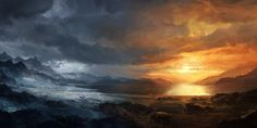 Ice and fire by merl1ncz.deviantart.com on @DeviantArt