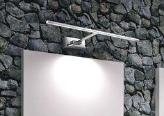ANDROMEDA LAMPADA DA PARETE A LED IN METALLO CROMATOLampade per il bagno allo specchio