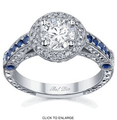 Edwardian Engagement Ring with Sapphires---Gorgeous!