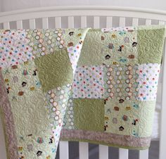 Patchwork Baby Quilt featuring Riley Blake by KimsQuiltingStudio, $149.99