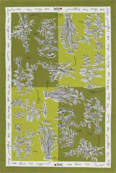 Vera Neumann Herbs Dishtowel  | Crate and Barrel