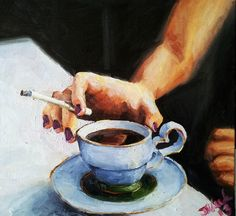 Breakfast James Needham...don't like cigarettes, but I do like this painting...