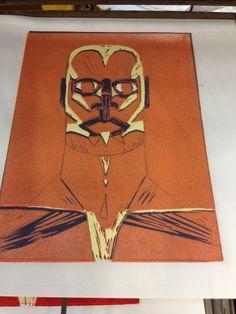 Human head Human Head, Lino Prints, How To Make