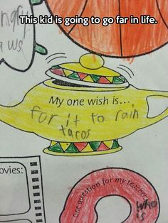 This kid knows what life is all about…