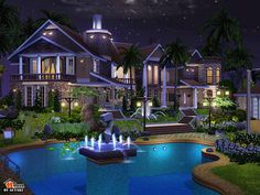 best sims3 house interiors | Amon Villa - The Sims 3 Fanart