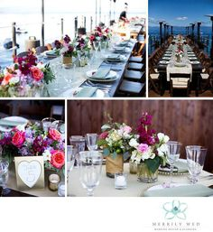 Lake Tahoe Wedding, West Shore Cafe Wedding, Merrily Wed, Farm Tables, Lakefront Wedding, Gold Table Numbers, Wedding Tablescape, Tahoe Lakefront Wedding