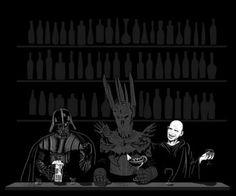 Darth Vader, Sauron, and Voldemort walk into a bar...