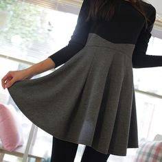 XL XXL High Street Ruffle Dress Women Fall 2013 Patchwork Slim Girls' Dresses Plus Size Women Clothing Black Cotton Product-inDresses from Apparel & Accessories on Aliexpress.com