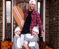Let Dad join in on the fun with this too-cute costume. It works even better if you have two little ones!