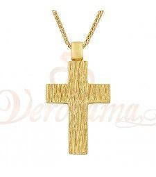 Σταυρός ανδρικός χρυσός Κ14 ST_028 Symbols, Letters, Letter, Lettering, Glyphs, Calligraphy, Icons
