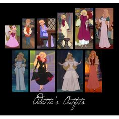 """Odette's Outfits"" by tealtigress on Polyvore"