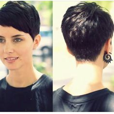 """#perfect #pixie #brunette #classic #beauty"""
