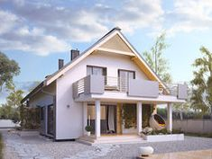 DOM.PL™ - Projekt domu MT Amarylis 3 CE - DOM MS3-65 - gotowy koszt budowy Home Fashion, Outdoor Structures, Cabin, House Design, Mansions, House Styles, Geo, Home Decor, House 2