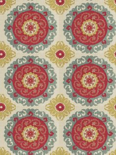 One More Day in color Peony from Fabricut's Vignettes XII - Pomegranate color book.