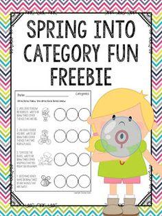 Spring into Category Fun FREEBIE!!