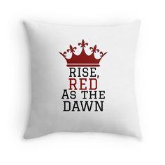 'Red Queen' Throw Pillow by Booksandbinging Red Queen Book Series, Red Queen Victoria Aveyard, Fandom Quotes, Book Pillow, Queen Tattoo, Queen Love, Queen Birthday, Book Memes, Book Fandoms