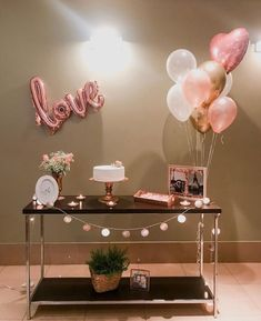Birthday Party Decorations For Adults, Birthday Party Tables, Balloon Decorations Party, Birthday Balloons, Decoration Table, Party Decoration Ideas, Partys, Wedding, Simple Birthday Decorations