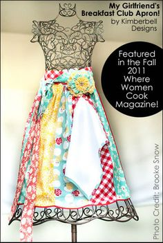 "FREE pattern ""My Girlfriend's Breakfast Club"" Apron as featured in Where Women Cook Magazine"