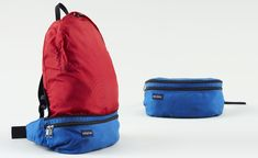 One of the pioneers in outdoor products, Kelty is still going strong today. Here is a 1970s nylon pack that folds into itself as a waist pac...