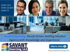 "Stuck in a dead end job? Browse our openings  online and apply to get your #DREAM job! We are ""Savants Sourcing LLC"": Result Driven #Premier #Staffing #Solution #Agency with #Knowledge and #Experience. Get more info! http://goo.gl/NDrMmV Apply on our website:- http://goo.gl/76lhJ7 We have a job that will be your dream job!"