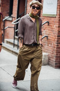 Take a look at the best menswear street style looks captured live by Jonathan Daniel Pryce at Menswear Week Spring/Summer 2018 in New York