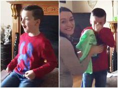 """O pai do garoto Tommy Dooley deu ao vídeo o nome de """"Sonhos tornam-se realidade"""""""
