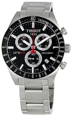 Tissot Men's TIST0444172105100 PRS 516 Black Dial Watch Tissot. $375.00. Case diameter: 40 mm; Quartz movement; Water-resistant to 330 feet (100 M); Stainless steel case; Durable sapphire crystal protects watch from scratches. Save 29% Off!