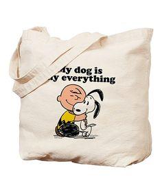 Look at this #zulilyfind! 'My Dog Is My Everything' Tote Bag #zulilyfinds