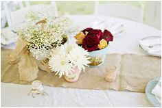 wedding centerpieces and decor - shabby chic style // photo by Andie Freeman