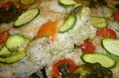 Focaccia Locatelli Integrale con Zucchine, Pomodorini e Pesto Genovese