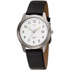 JOBO Herren Armbanduhr Quarz Analog Titan Lederband schwarz Herrenuhr mit Datum