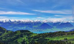 Switzerland, we stayed at the top of this mountain (Mt Rigi)