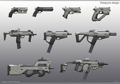 Sci Fi Weapons, Weapon Concept Art, Weapons Guns, Fantasy Weapons, Military Weapons, Cyberpunk, Futuristic Armour, Future Weapons, Cool Guns