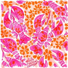 Butter me up. Lily Pulitzer Painting, Lilly Pulitzer Prints, Lilly Pulitzer Patterns, Conversational Prints, Scrapbooking, Surface Pattern Design, Painting Inspiration, Print Patterns, Pattern Ideas