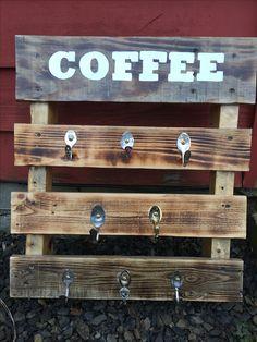DIY coffee pallet board