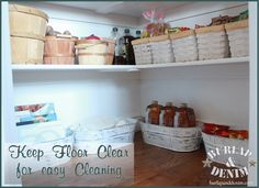 Organized Pantry Storage