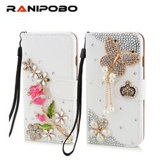 Pink Stylish 3D Handmade Crystal Rose Crown Bow Flowers Magnetic Wallet Leather Cover with Screen Protector /& Neck Strap Lanyard STENES Bling Wallet Phone Case Compatible with iPhone 11 Pro Max