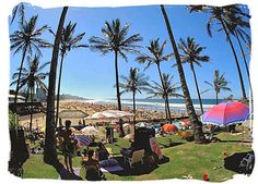 Margate beach on the KwaZulu-Natal south coast in South Africa