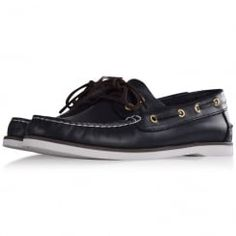 Thomas Finley Navy Leather Boat Shoes. Available now at www.brother2brother.co.uk