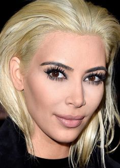 #HAIRtrends  KIM IS BETTER.  with her platinum blonde hair.