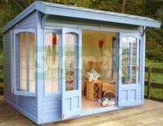 Pent Summerhouse 513 - Cedar, Painted, Internal Lining