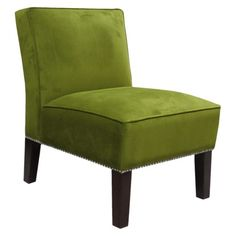 Green and nailhead, 119  http://www.target.com/p/armless-upholstered-chair-green-with-silver-nailhead/-/A-13952012