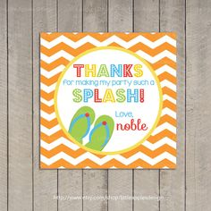 Pool Party Favor Tag / Pool Party Gift Tag / by LittleApplesDesign, $6.00