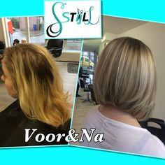 #voorenna #beforeandafter #highlights #lowlights #bobline #bobhaircut #haircut B Line, Highlights, Hair Cuts, Long Hair Styles, Beauty, Haircuts, Long Hair Hairdos, Hair Cut, Hairstyles