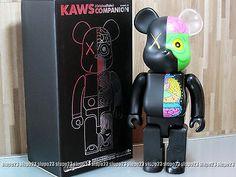 Medicom 400 Bearbrick kaws Original Fake Dissected Be rbrick Black Color   eBay