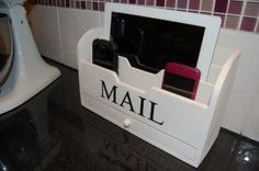 Simple mail organizer turns into handy charging station for cell phones, etc...LOVE IT!